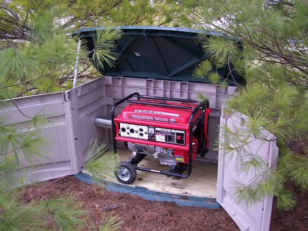 How to build your own generator shed?